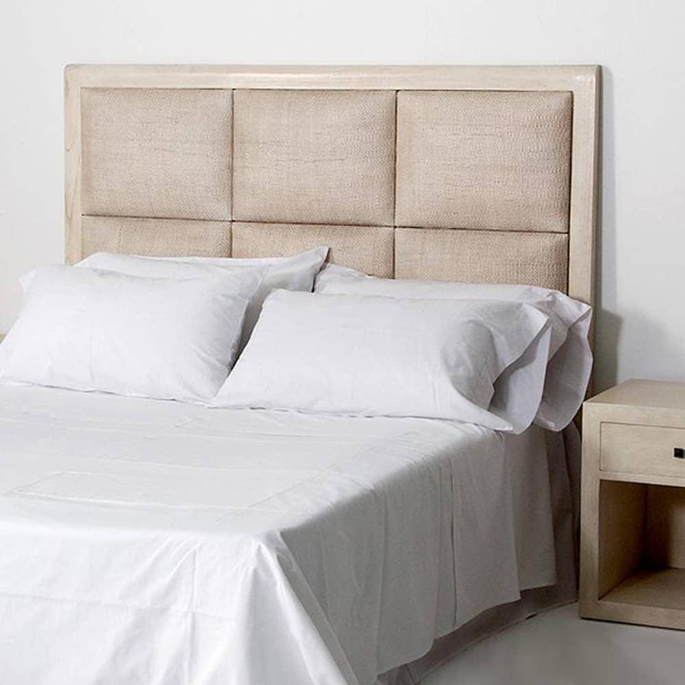 Cabec ro ratan muebles de dise o borgia conti - Cabeceros de madera pintados ...