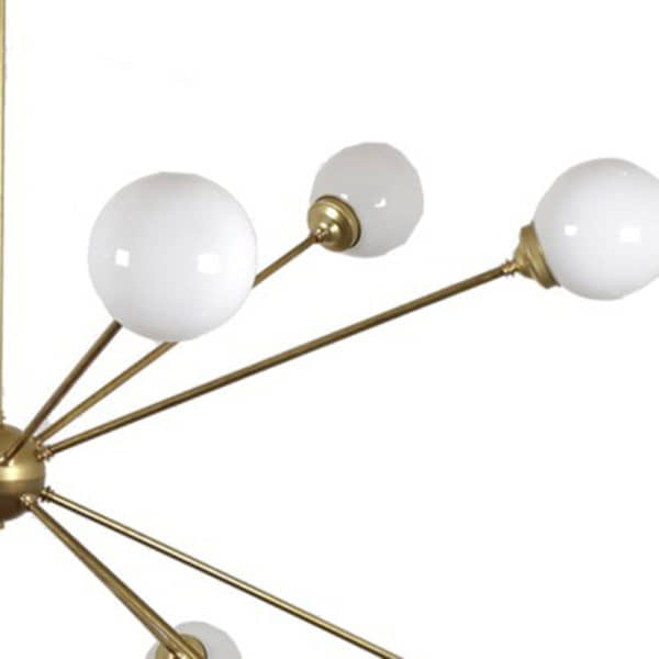 Lampara Sputnik pantalla opal