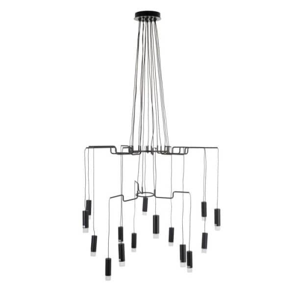 lampara diseño moderno en aluminio negro