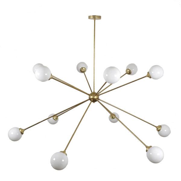 Lámpara Sputnik pantalla opal